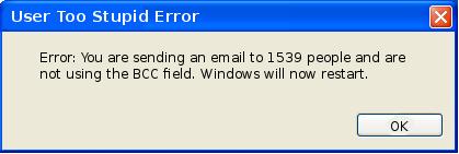 User too Stupid Error